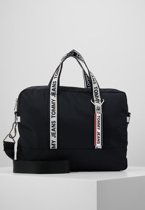 LOGO TAPE COMPUTER BAG - Attachetasker - black