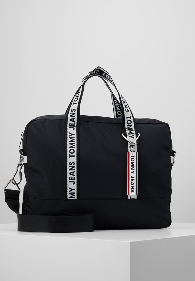 LOGO TAPE COMPUTER BAG - Briefcase - black