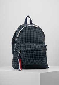 Tommy Jeans - LOGO TAPE RIPSTOP BACKPACK - Rucksack - blue - 0