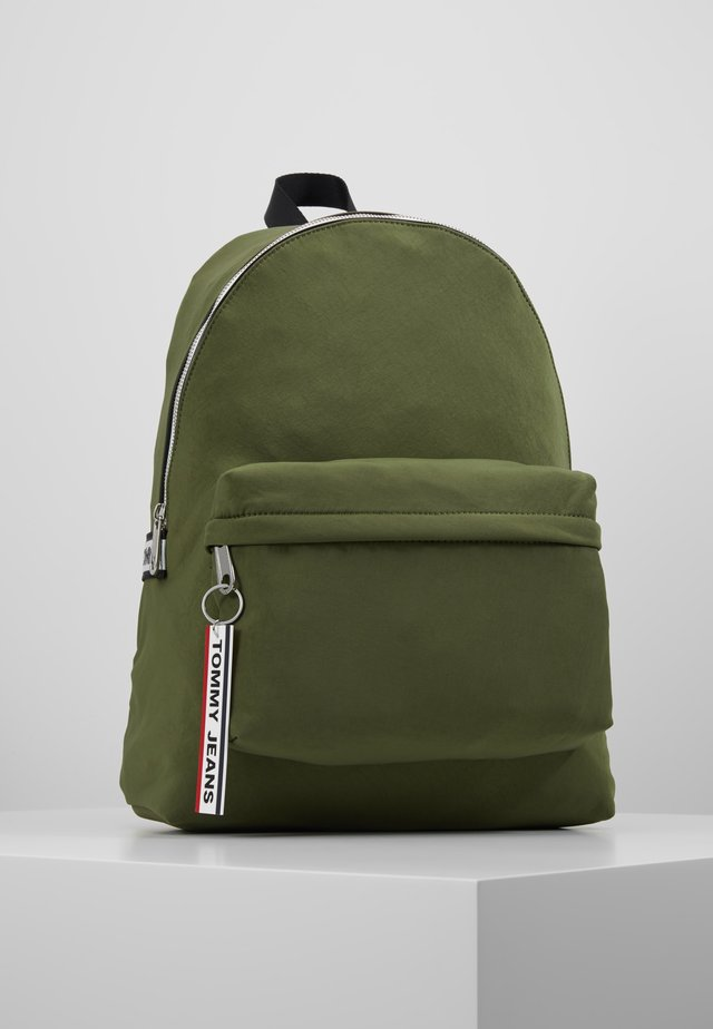 LOGO TAPE BACKPACK  - Rucksack - green