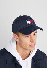 Tommy Jeans - HERITAGE FLAG CAP - Kšiltovka - blue - 1