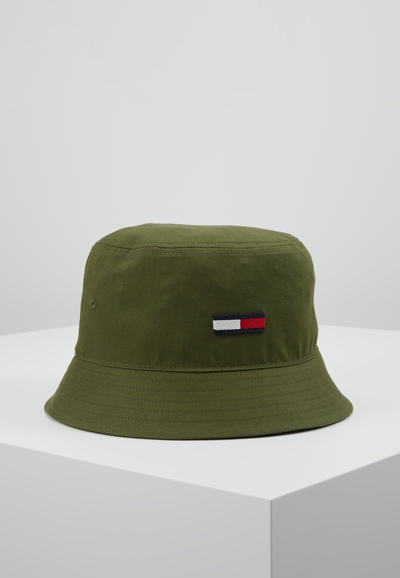 Tommy Jeans - FLAG BUCKET HAT - Hut - green