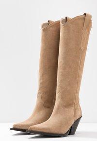 Toral - Cowboy/Biker boots - basket camel - 4