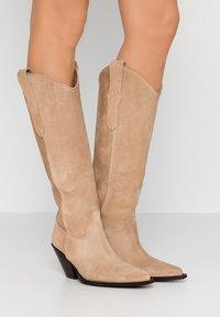 Toral - Cowboy/Biker boots - basket camel - 0