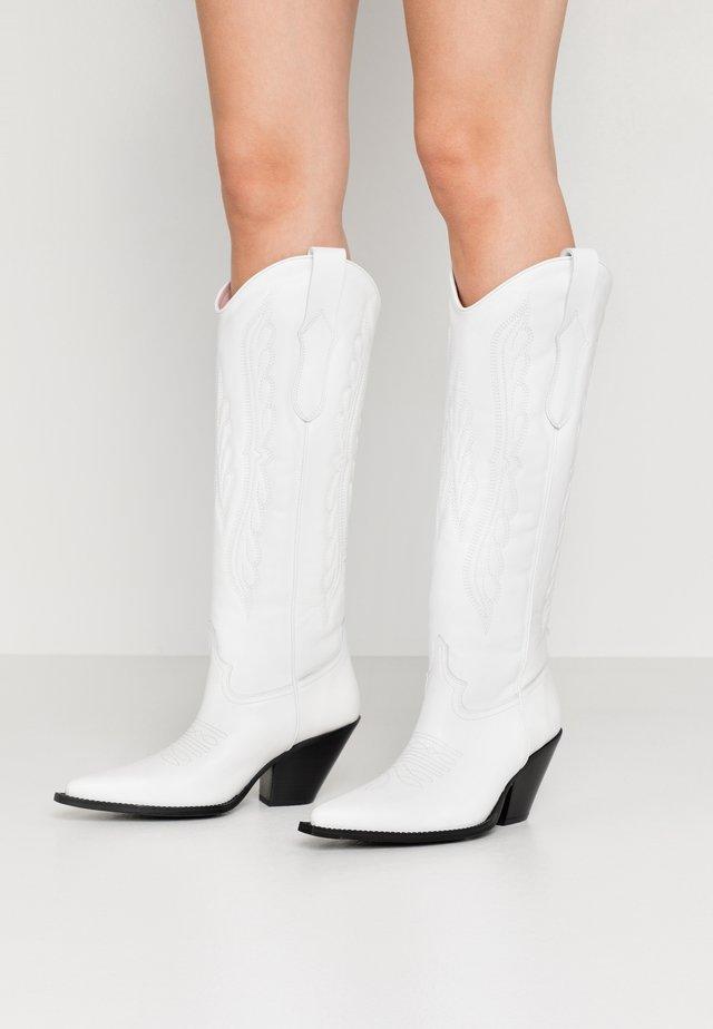 Kovbojské/motorkářské boty - blanko