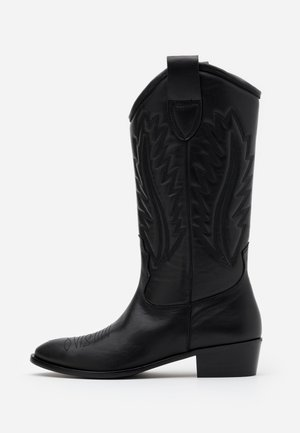 MARIA LISO - Kovbojské/motorkářské boty - black