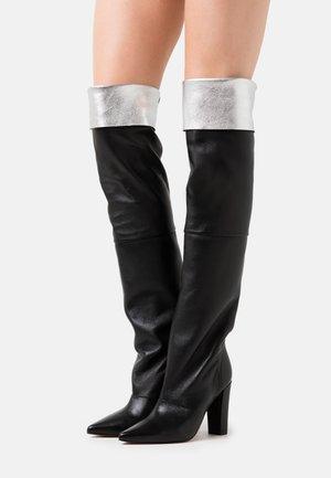 LAVA - Laarzen met hoge hak - black/silver