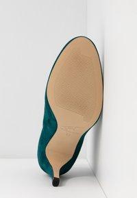 Toral - Kotníková obuv na vysokém podpatku - petrol - 6