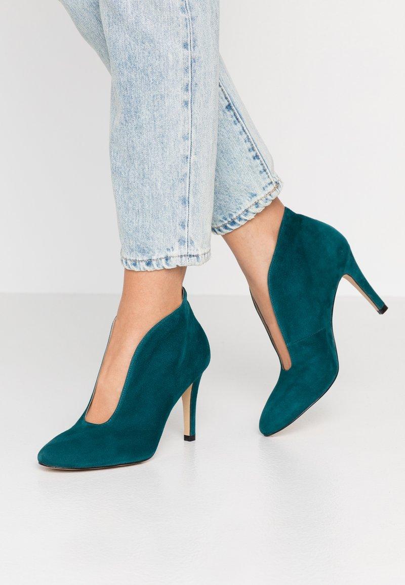 Toral - Kotníková obuv na vysokém podpatku - petrol