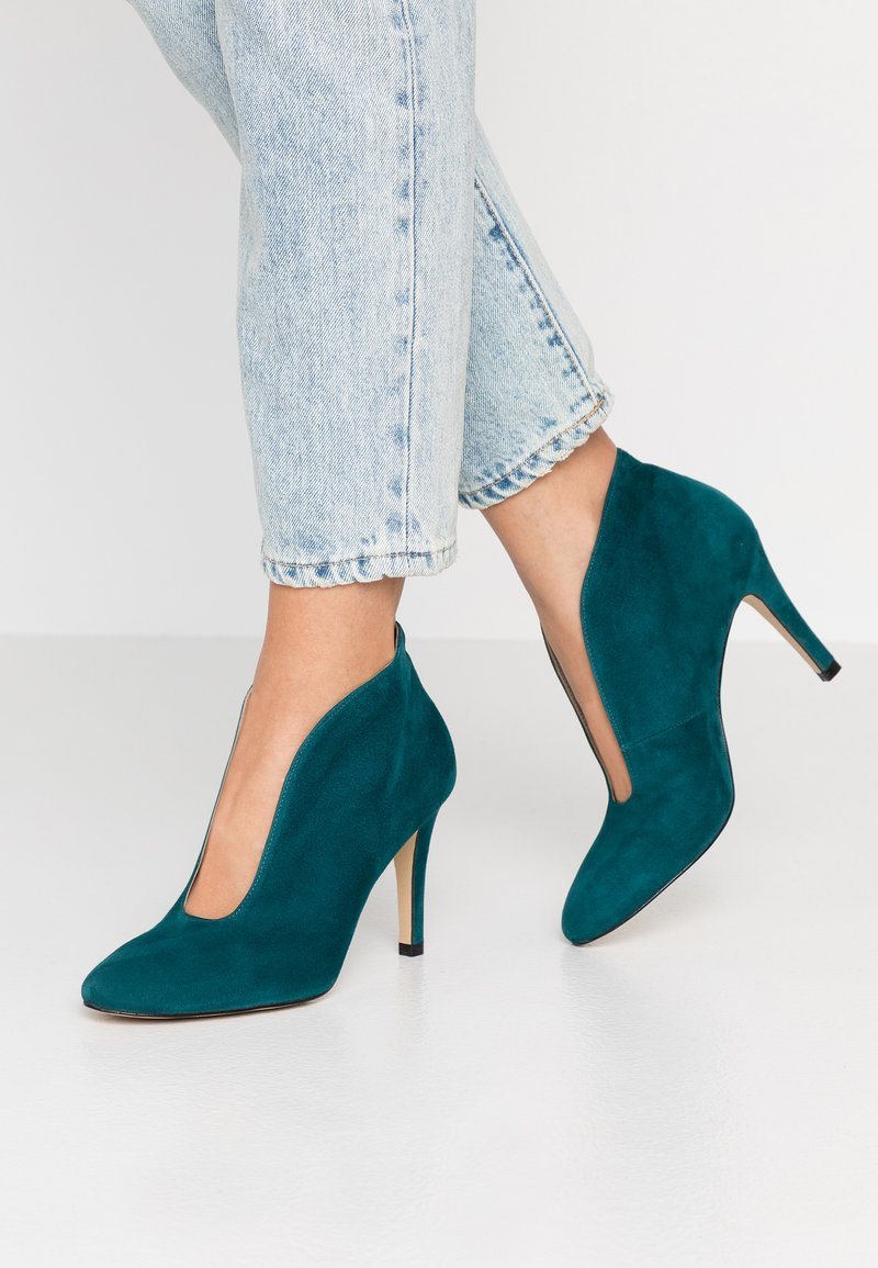 Toral - High heeled ankle boots - petrol