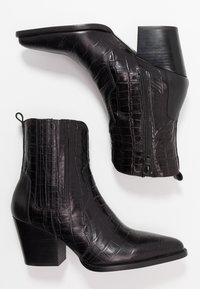 Toral - Botki kowbojki i motocyklowe - black - 3