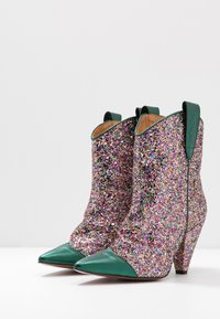 Toral - High heeled ankle boots - eclat green/multicolor - 2