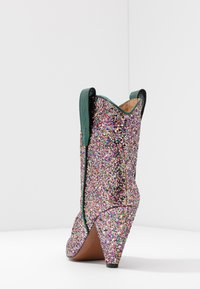 Toral - High heeled ankle boots - eclat green/multicolor - 3