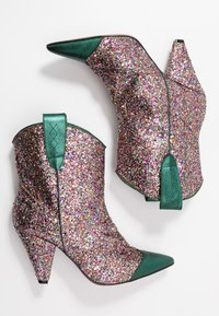 Toral - High heeled ankle boots - eclat green/multicolor - 1