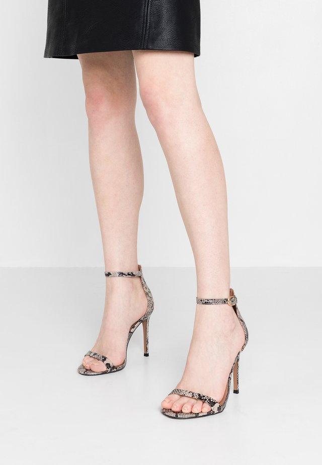 WIDE FIT SUSIE 2 PART SKINNY - High heeled sandals - brown