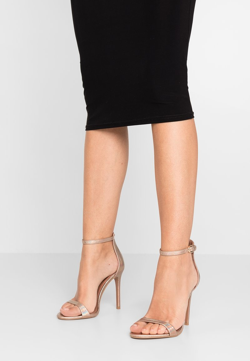 Topshop Wide Fit - WIDE FIT SUSIE 2 PART SKINNY - High heeled sandals - multicolor