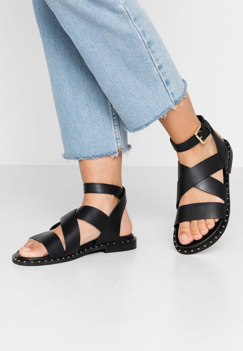 Topshop Wide Fit - WIDE FIT HAMPTON - Sandals - black