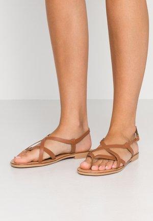 WIDE FIT HAYLEY - Sandály s odděleným palcem - tan/rust