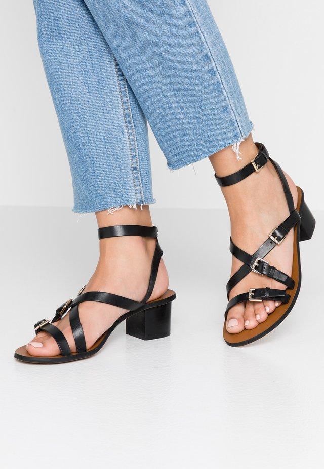 WIDE FIT VIRGO - Sandals - black