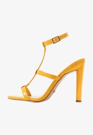 WIDE FIT RIVER STRAPPY BLOCK - Sandalias de tacón - yellow