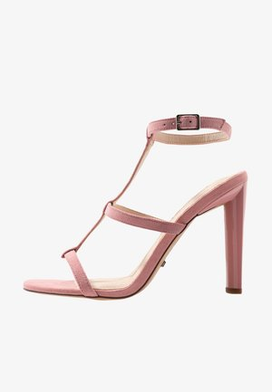 WIDE FIT RIVER STRAPPY BLOCK - High heeled sandals - nude