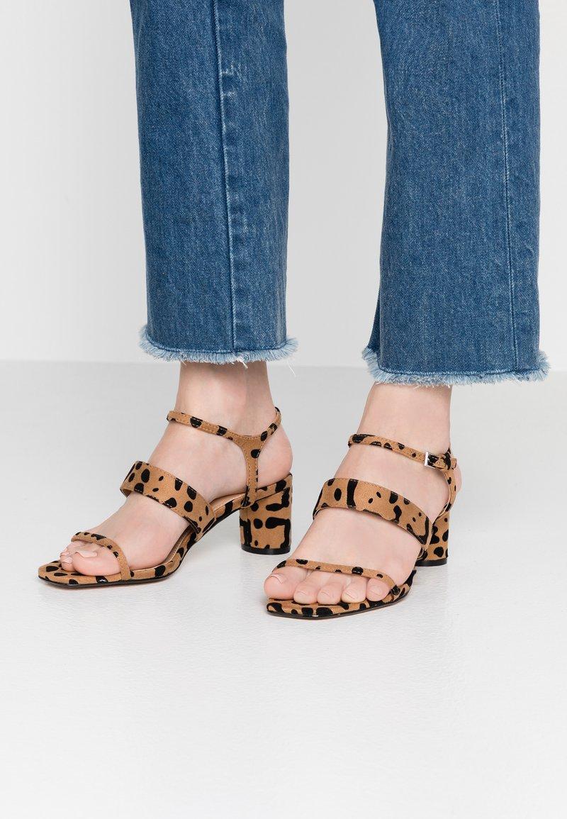 Topshop Wide Fit - WIDE FIT DITA STRAP - Sandals - brown
