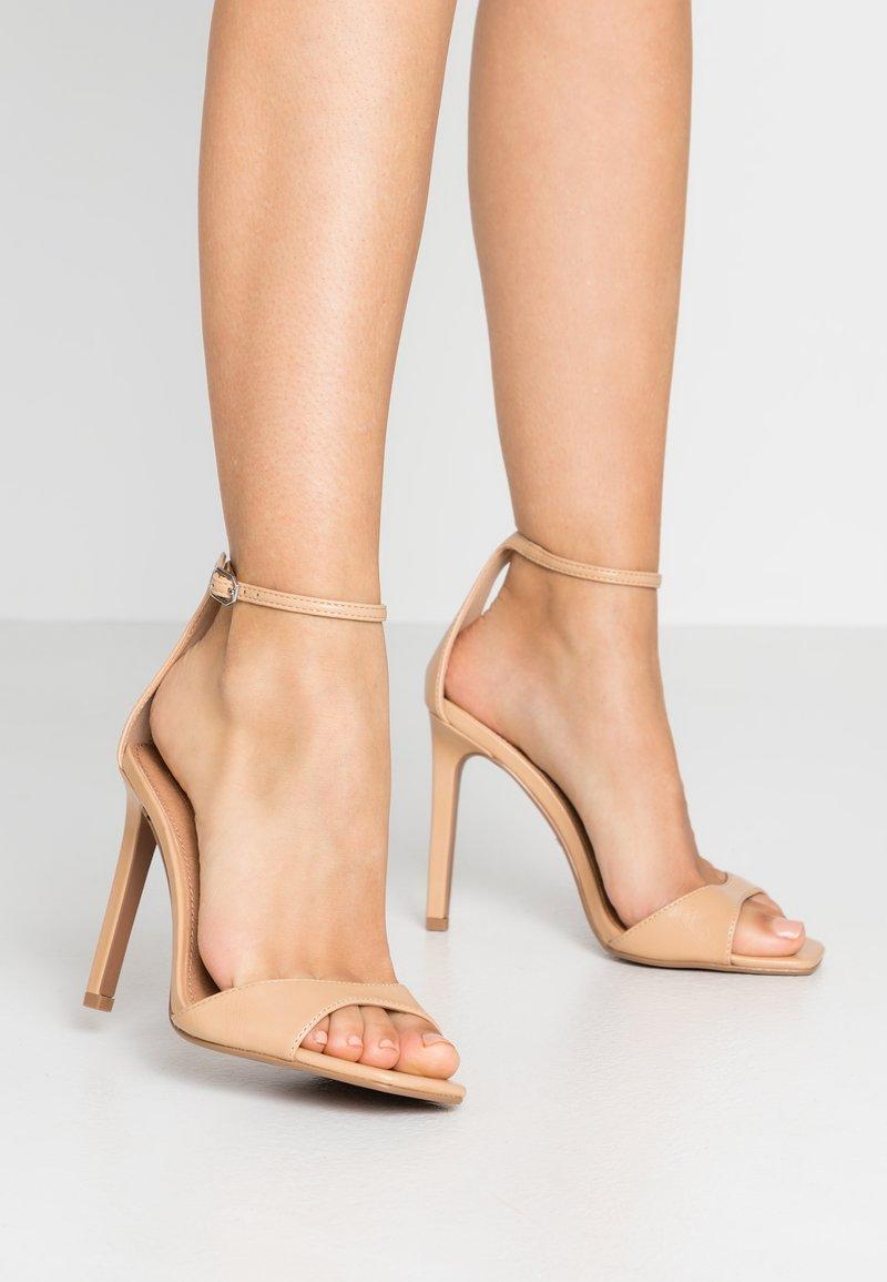 Topshop Wide Fit - WIDE FIT SILVY PART - Sandaletter - nude