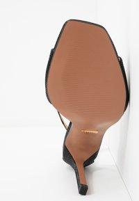 Topshop Wide Fit - WIDE FIT SILVY PART - High heeled sandals - black - 6