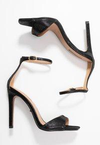 Topshop Wide Fit - WIDE FIT SILVY PART - High heeled sandals - black - 3