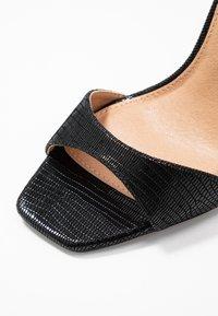 Topshop Wide Fit - WIDE FIT SILVY PART - High heeled sandals - black - 2