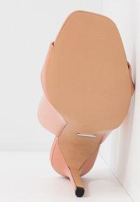 Topshop Wide Fit - WIDE FIT STELLA PERSPEX MULE - Heeled mules - blush - 6