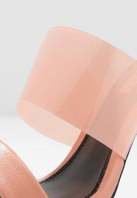Topshop Wide Fit - WIDE FIT STELLA PERSPEX MULE - Heeled mules - blush - 2