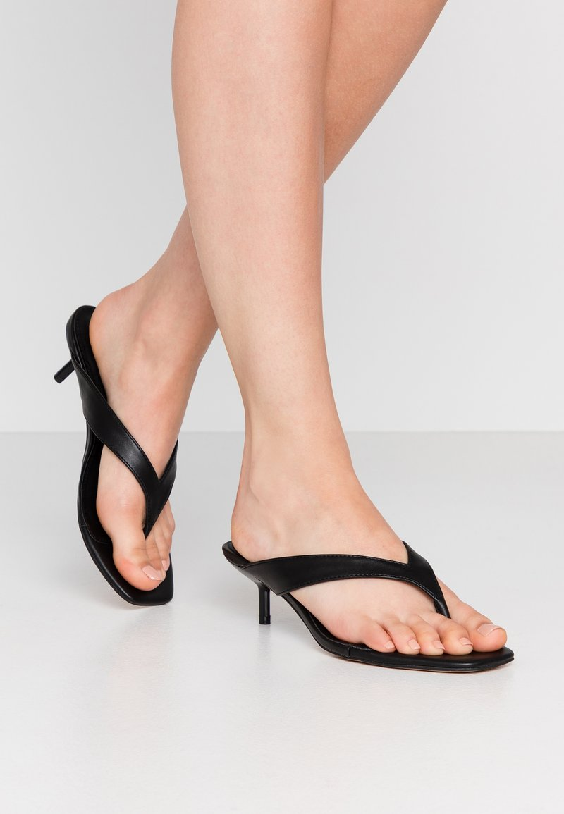 Topshop Wide Fit - WIDE FIT NINA MULE - T-bar sandals - black