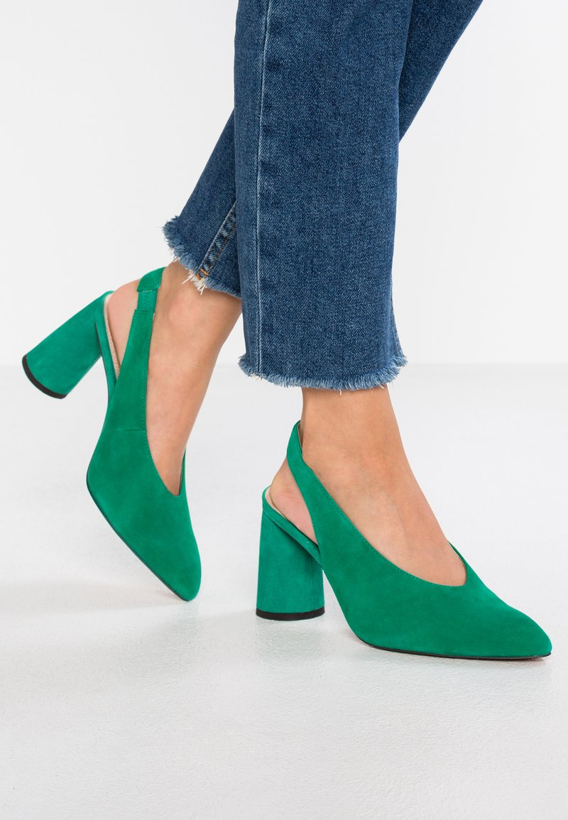 Topshop Wide Fit - WIDE FIT GRIN - High heels - green