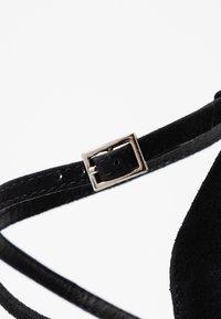 Topshop Wide Fit - WIDE FIT GRAPE FLARE - High heels - black - 2