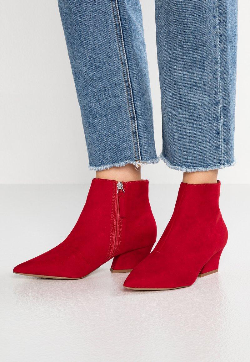 Topshop Wide Fit - WIDE FIT BRINK - Ankle Boot - dark red