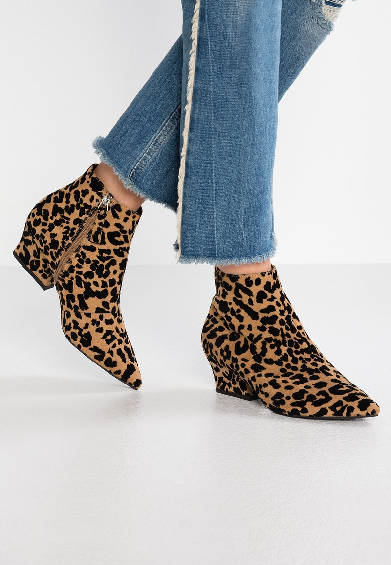 Topshop Wide Fit - WIDE FIT BRINK - Ankle boots - brown