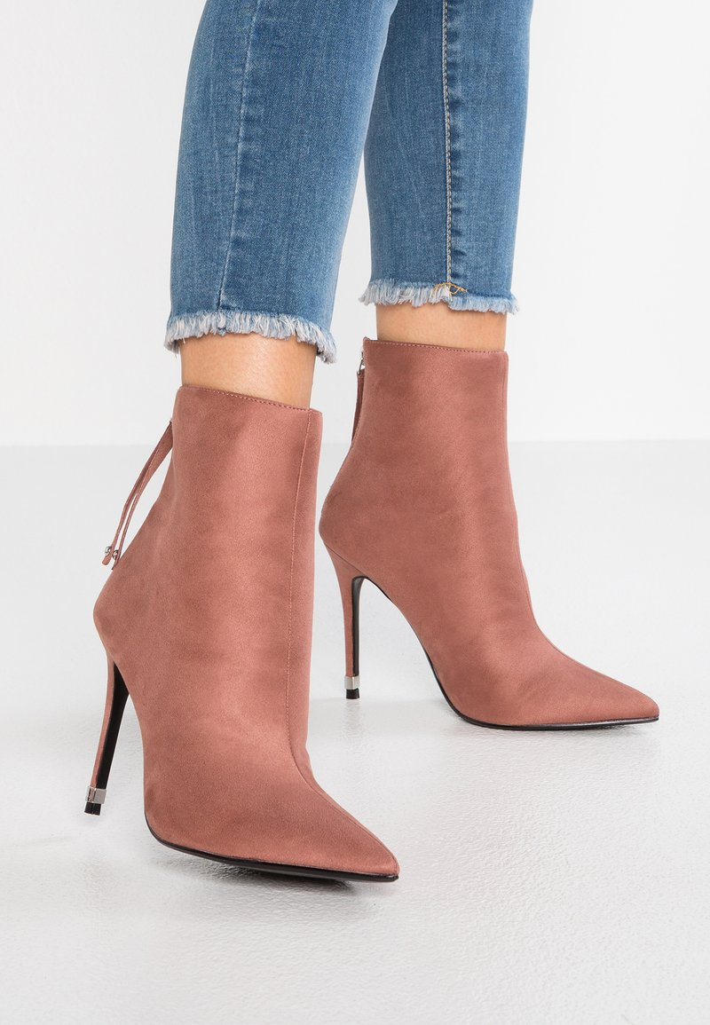 Topshop Wide Fit - WIDE FIT ELLA POINT SELF SERVE BOOT - High Heel Stiefelette - blush