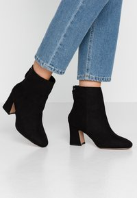 Topshop Wide Fit - WIDE FIT BELIZE BOOT - Classic ankle boots - black - 0