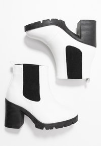 Topshop Wide Fit - WIDE FIT BYRON - Ankle boots - white - 3