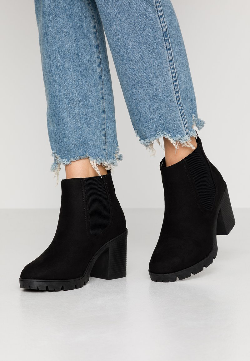 Topshop Wide Fit - WIDE FIT BYRON - Ankle boots - black