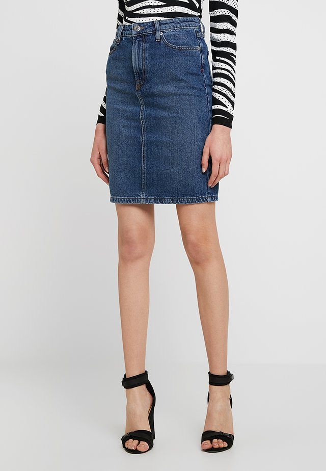 HEPBURN SKIRT - Denimová sukně - denim blue