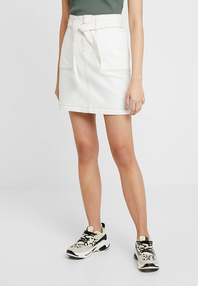 LINCOLN WORKER SKIRT - Farkkuhame - ecru