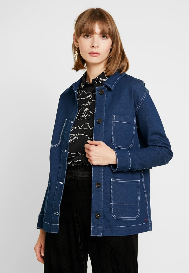 LINCOLN JACKET RAW - Farkkutakki - denim blue