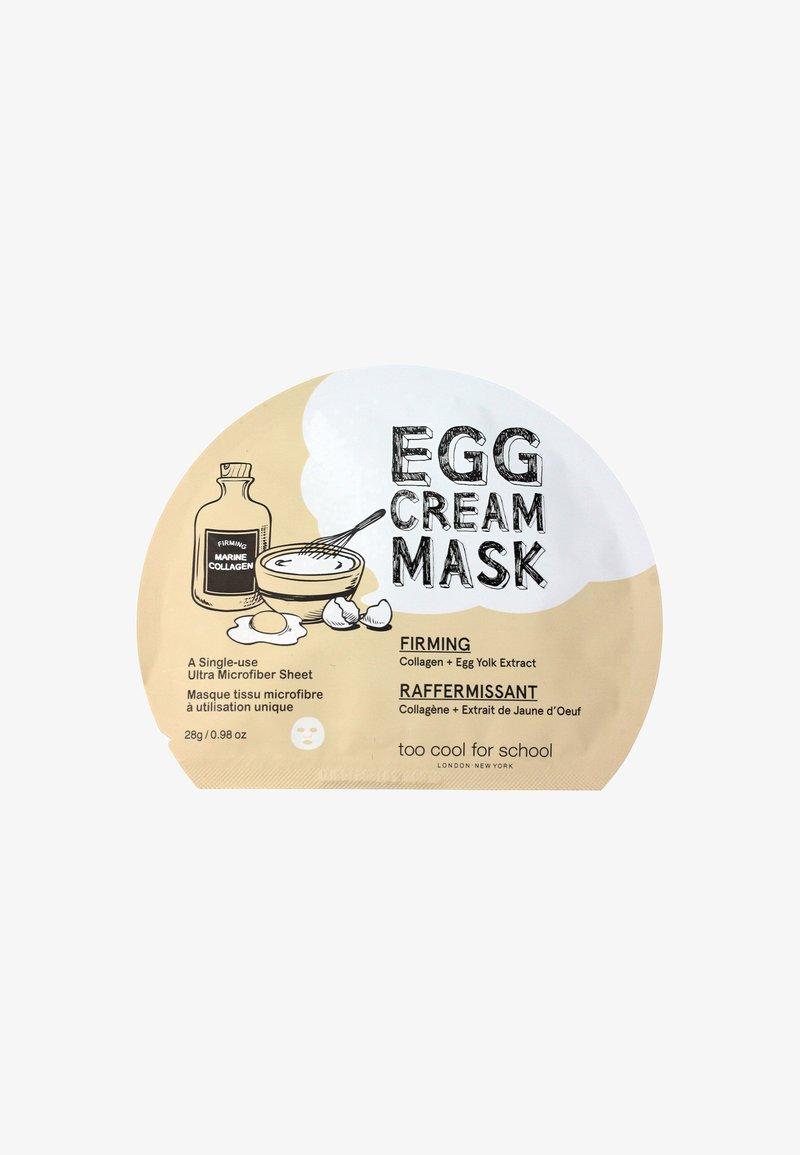 too cool for school - EGG CREAM FIRMING 28G - Gesichtsmaske - -