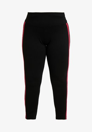 TREGGINGS WITH TAPE - Leggings - Trousers - black