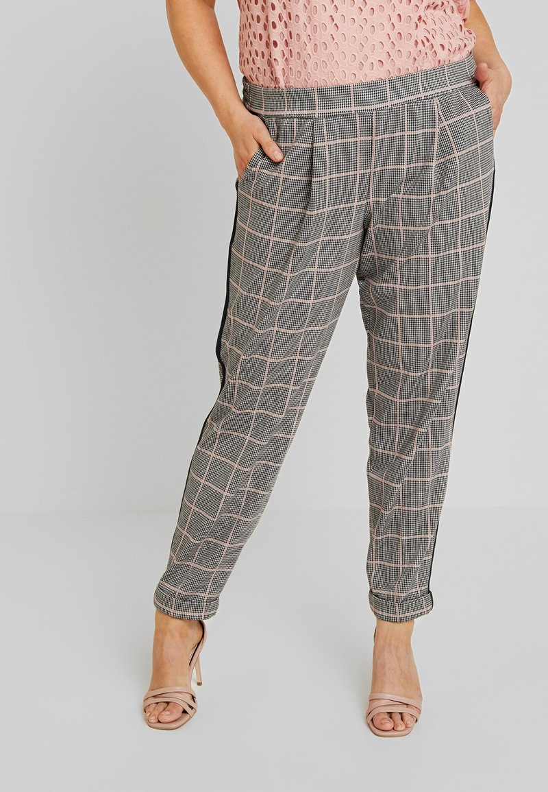 MY TRUE ME TOM TAILOR - Trousers - black/rose/grey