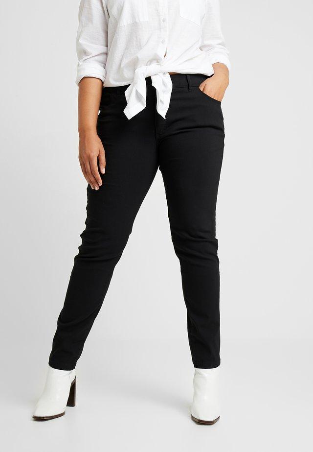 Jeansy Skinny Fit - deep black