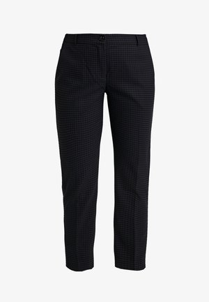 Trousers - navy check/blue