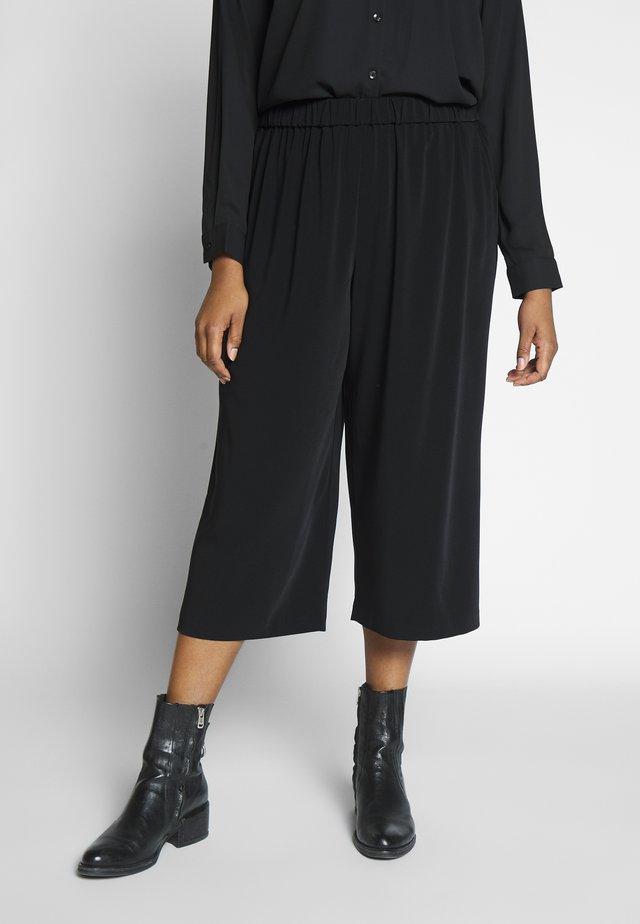 BASIC CULOTTE - Spodnie materiałowe - deep black
